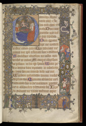 Historiated Initial And Historiated Border, In A Fragmentary Psalter f.9r